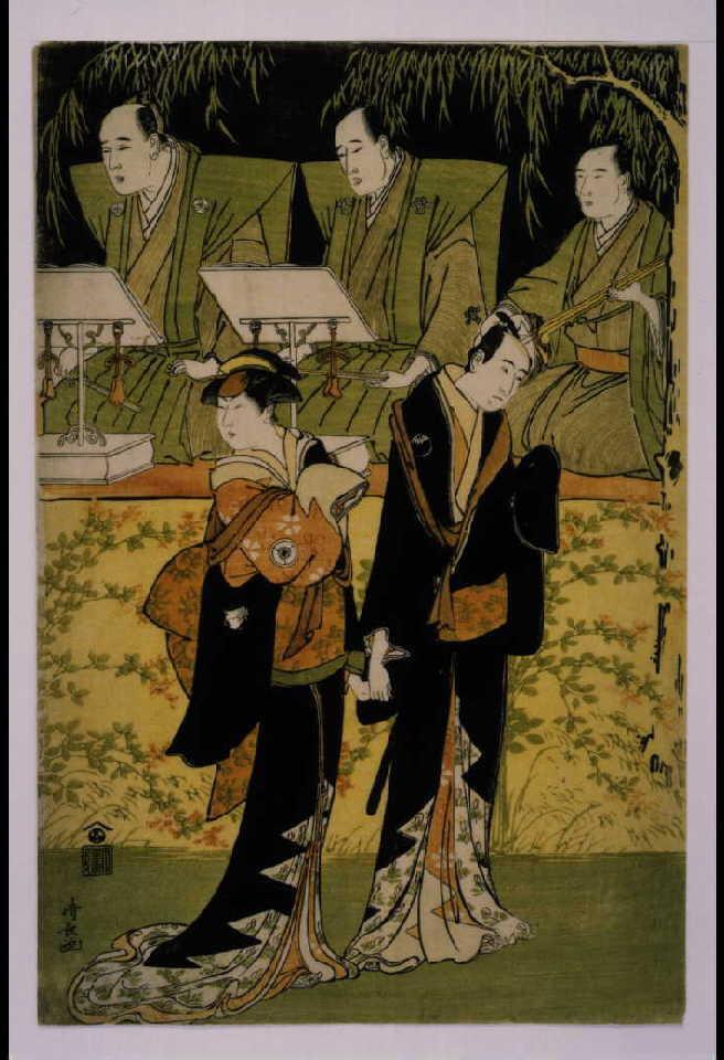 作品画像:出語り 三代目沢村宗十郎の治兵衛と四代目岩井半四郎の小春