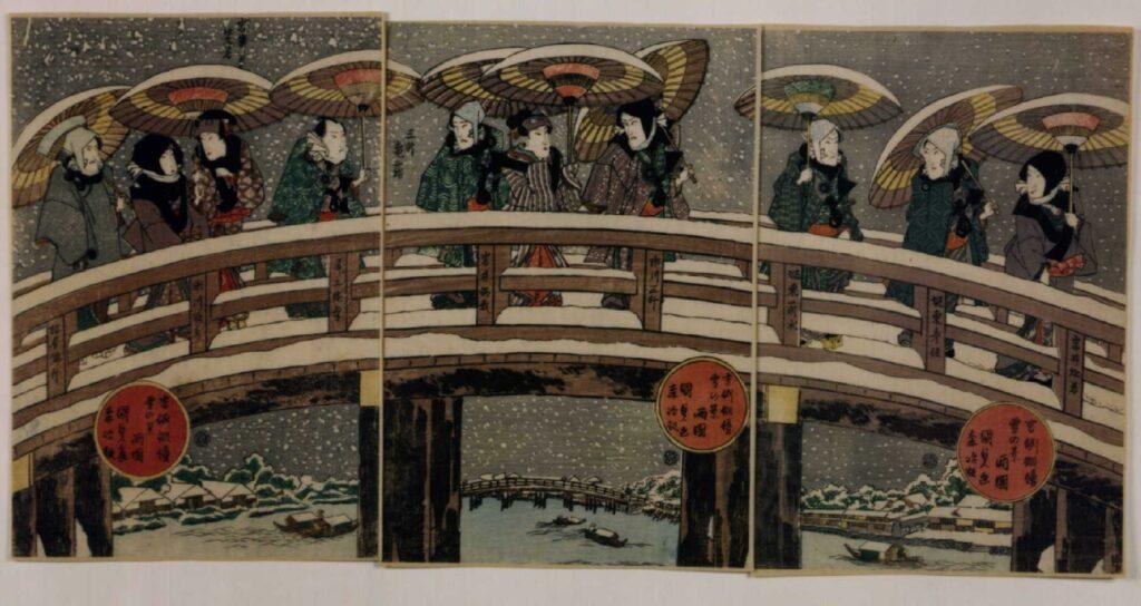 作品画像:吉例俳優雪の景 両国