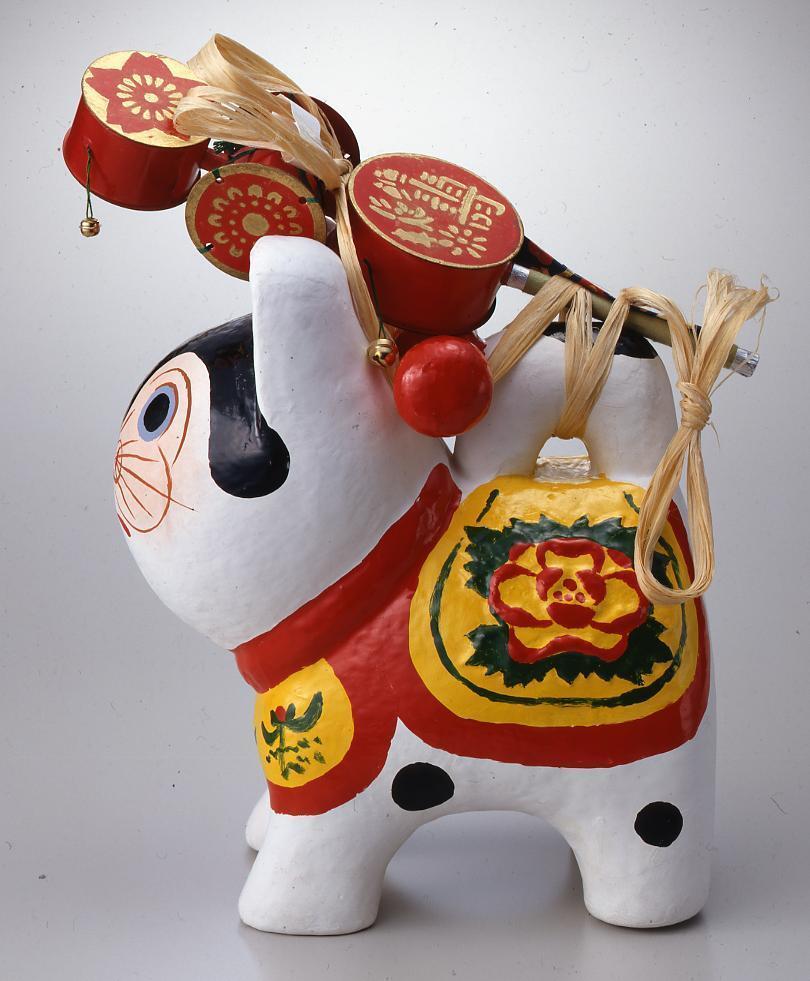 作品画像:犬張子(完成品)牡丹5号