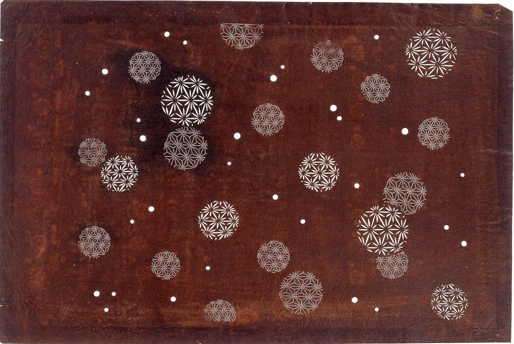 作品画像:長板中形型紙 小丸模様