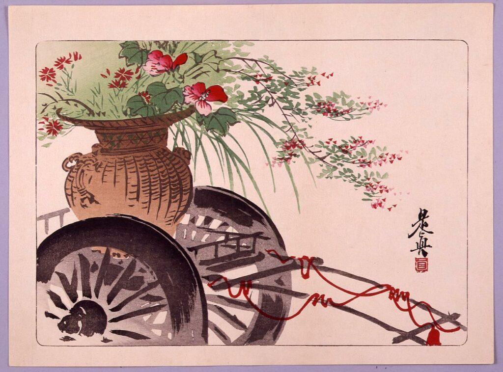 作品画像:花車図