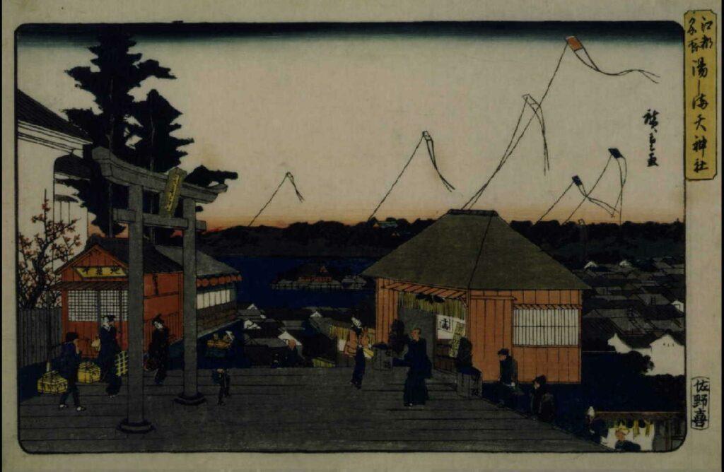 作品画像:江都名所 湯しま天神社