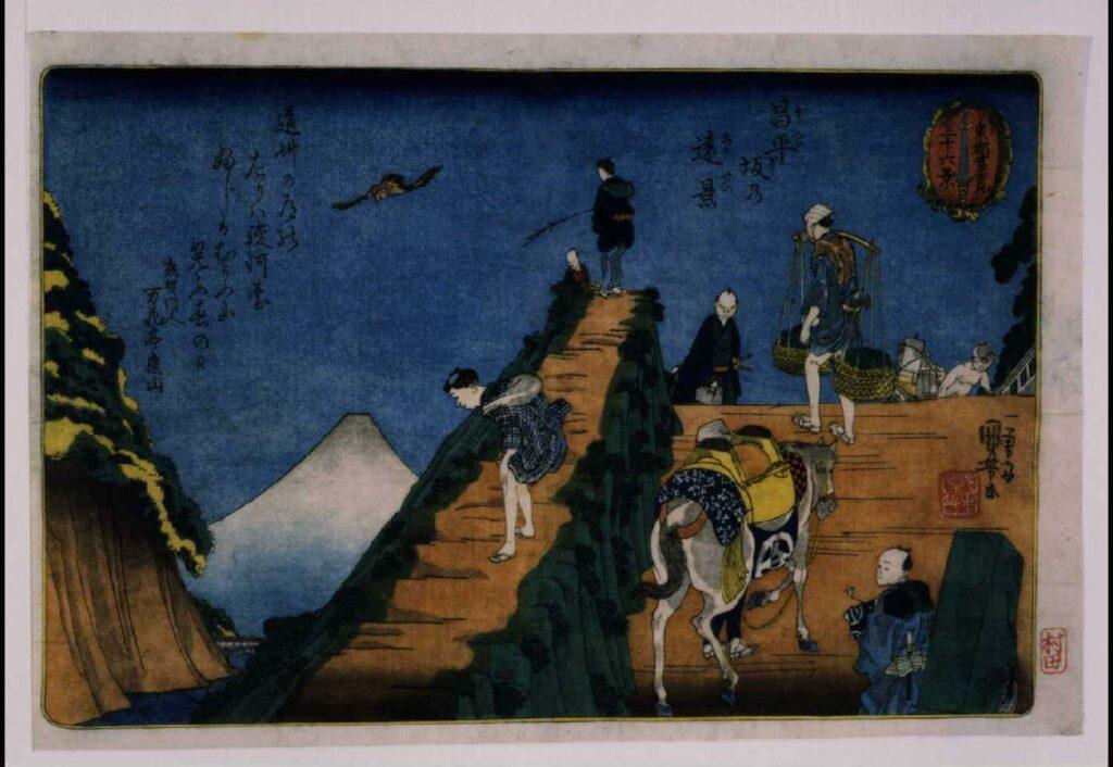 作品画像:東都富士見三十六景 昌平坂の遠景