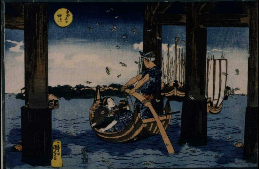 作品画像:東都名所 佃島