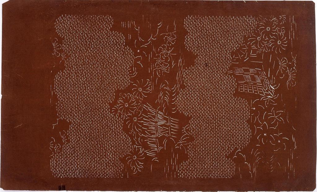 作品画像:長板中形型紙 雲取(大判 追掛)