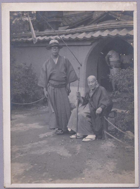 作品画像:川村清雄と梶本巌雄(奈良にて)