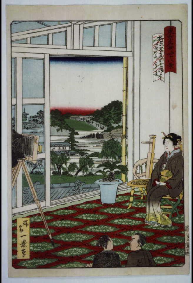 作品画像:東京名所四十八景 御茶ノ水柳原写真館三階ヨリ御茶ノ水遠景