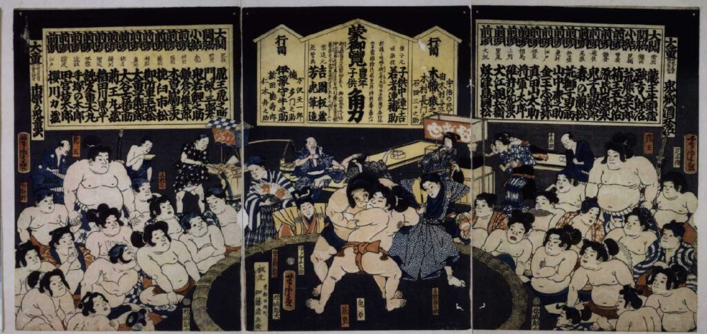 作品画像:蒙御覧豊年子供相撲