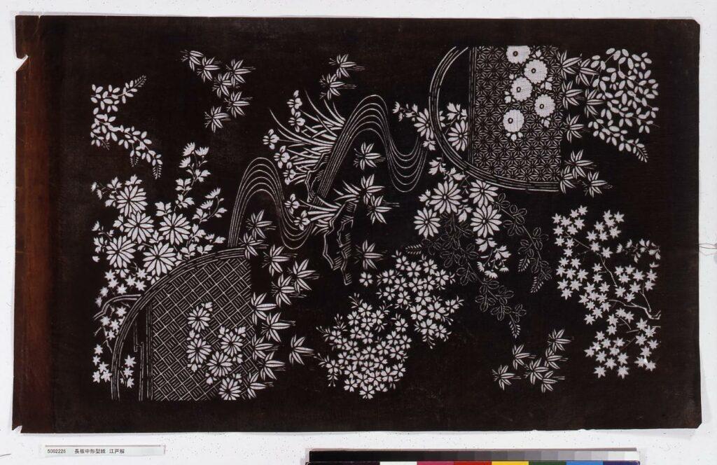 作品画像:長板中形型紙 江戸解