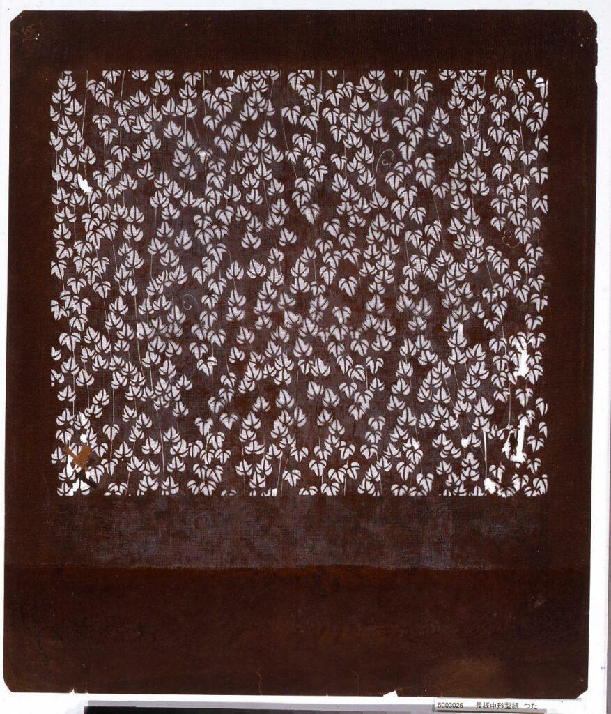 作品画像:長板中形型紙 つた