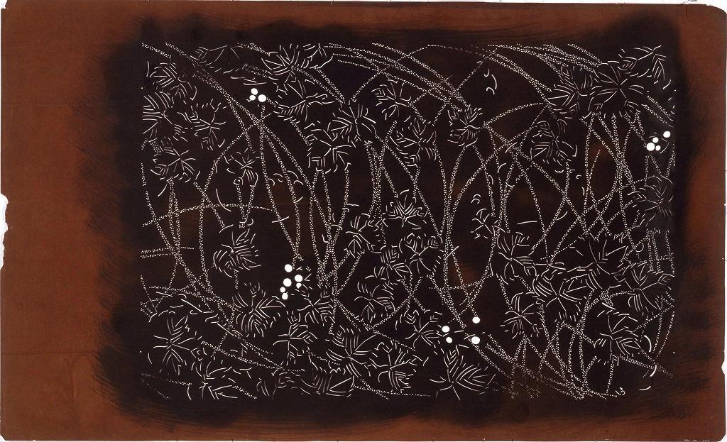 作品画像:長板中形型紙 野ぶどう文(大判 追掛)