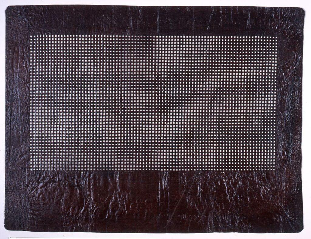 長板中形型紙 格子
