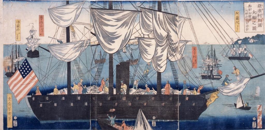 作品画像:亜米利加国大船の図
