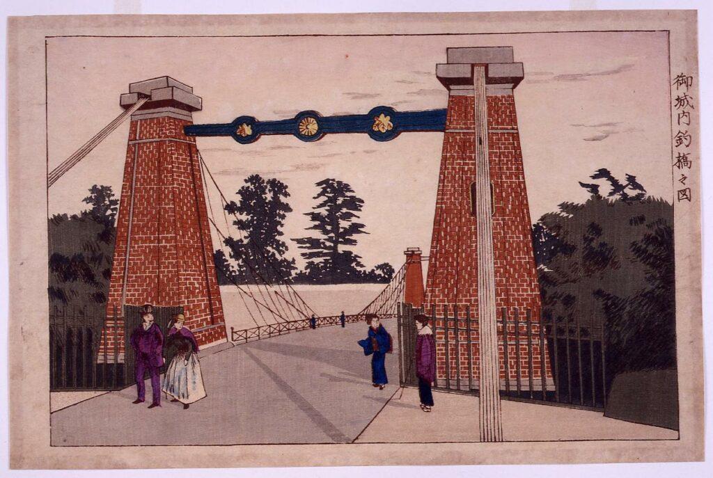 作品画像:御城内釣橋之図