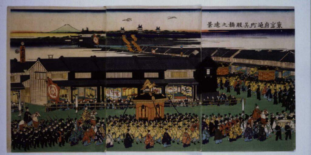 作品画像:東京府通町より呉服橋之遠景