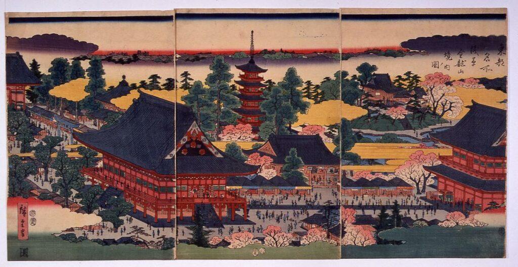作品画像:東都名所浅草金龍山境内ノ図