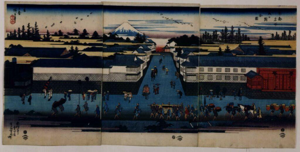 作品画像:東都名所 霞ヶ関全図