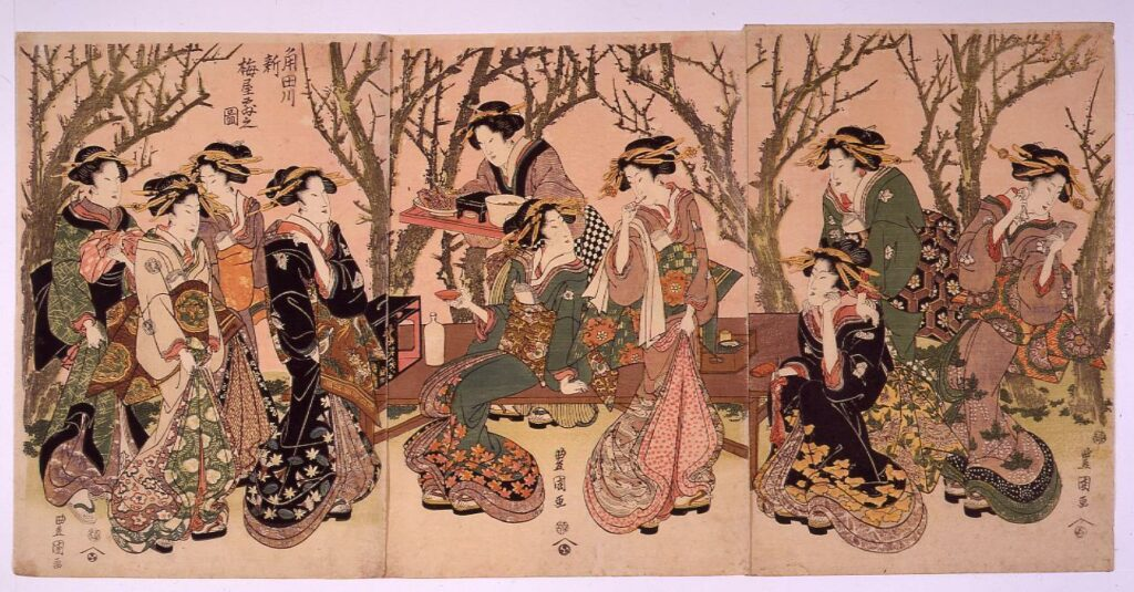 作品画像:角田川 新梅屋敷之図