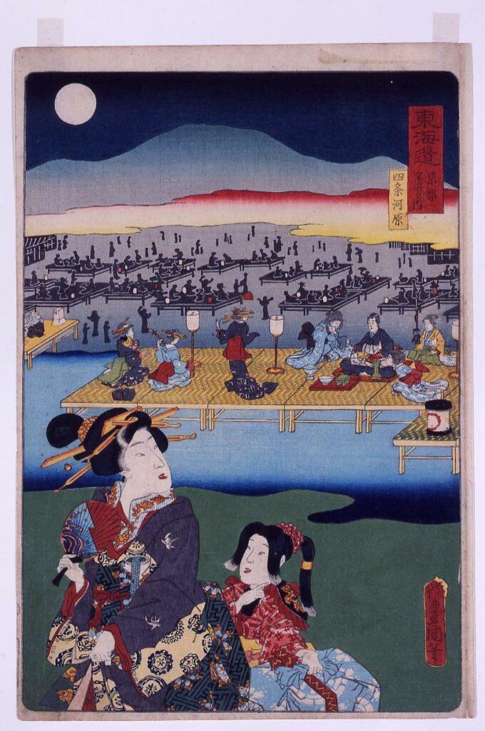 作品画像:東海道京都名所之内 四条河原