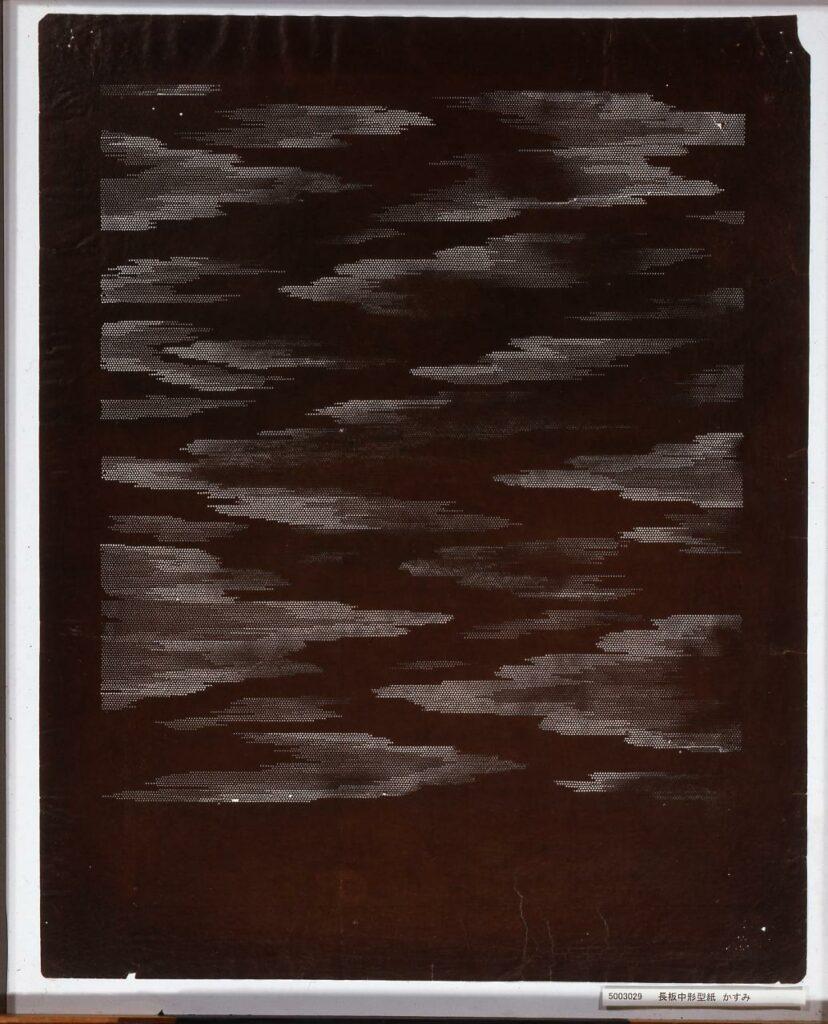 作品画像:長板中形型紙 かすみ