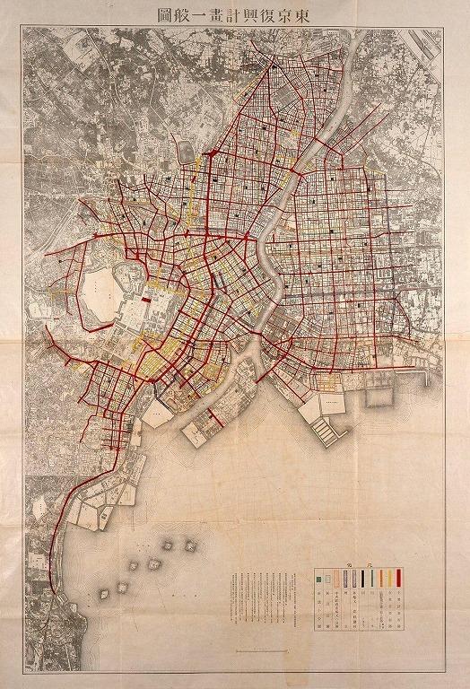 作品画像:東京復興計画一般図