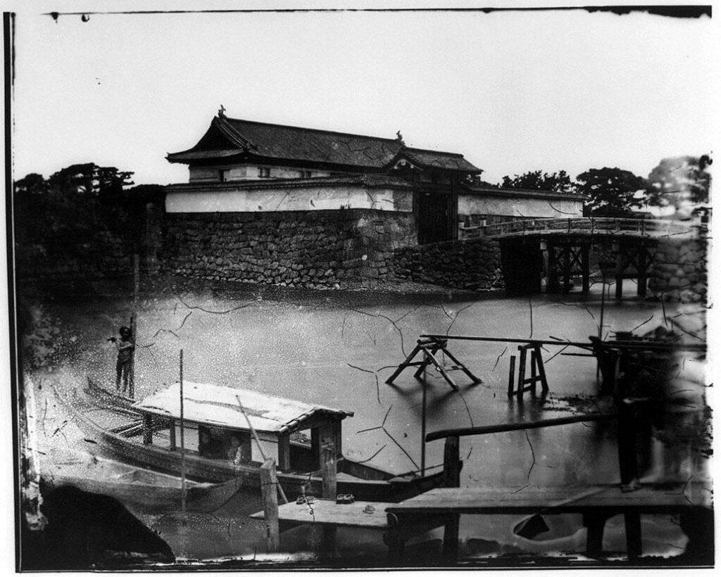作品画像:旧江戸城写真ガラス原板  鍛冶橋門