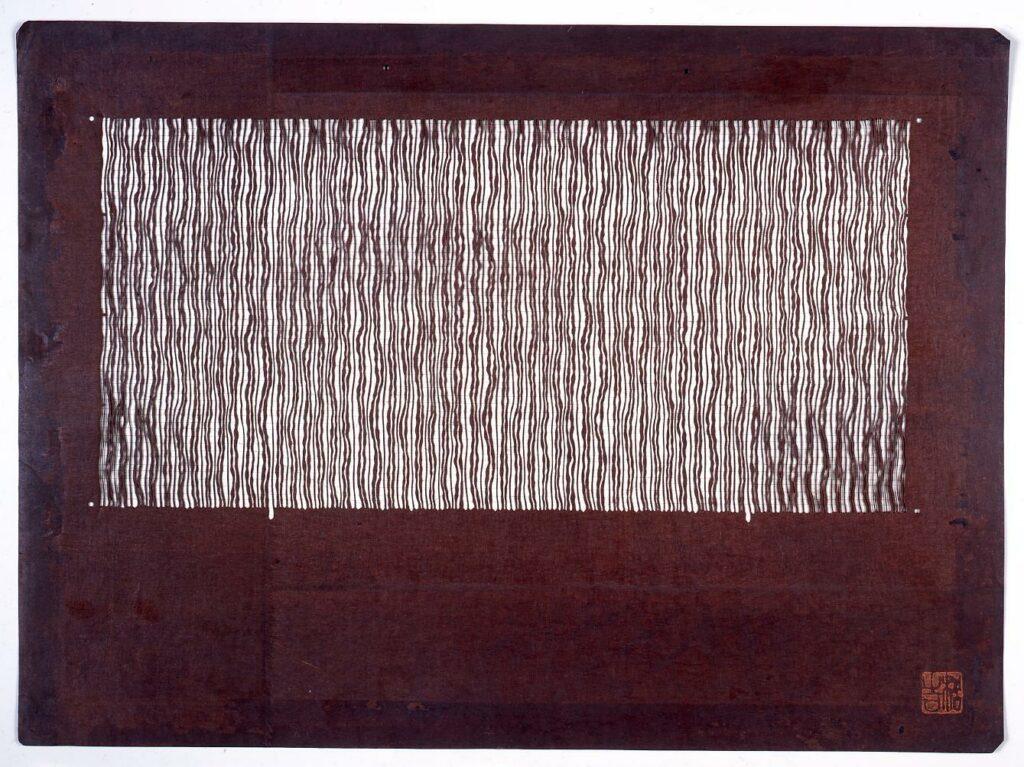 長板中形型紙 さざ波