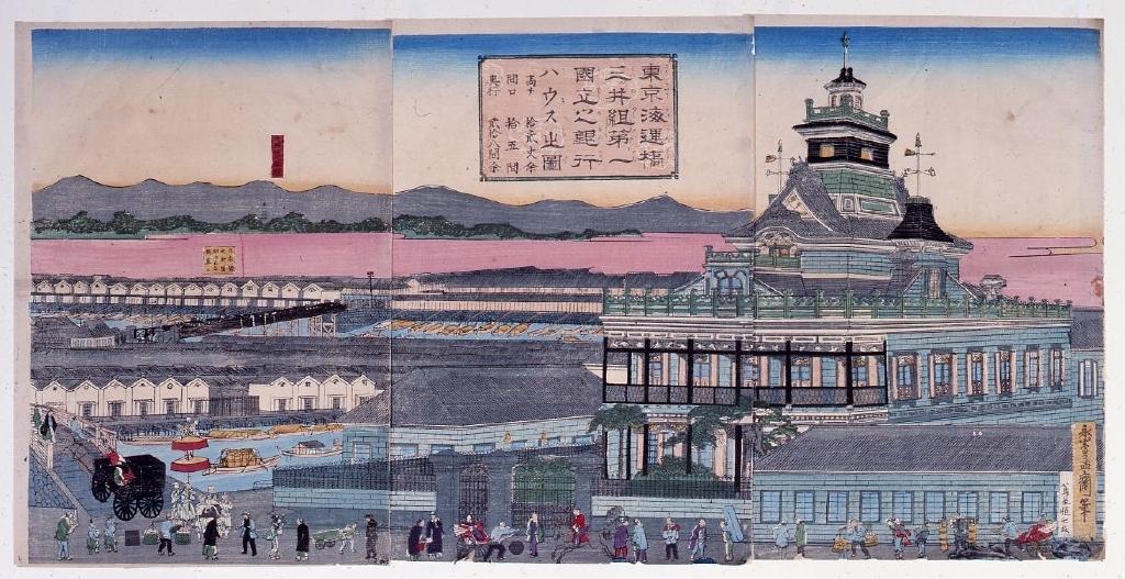 作品画像:東京海運橋三ッ井組第一国立之銀行ハウス之図