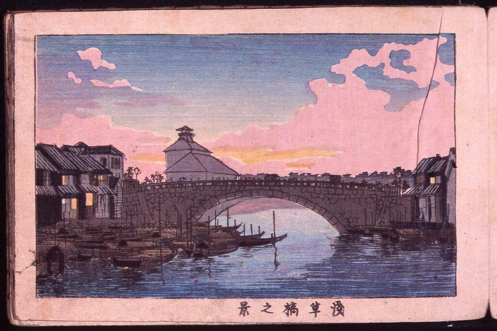 作品画像:浅草橋之景