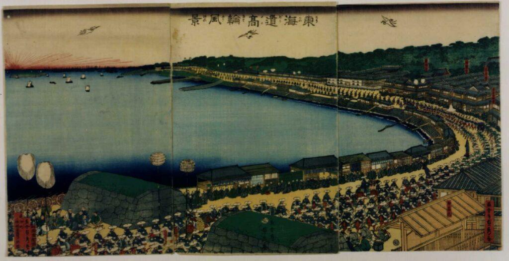 作品画像:東海道高輪風景
