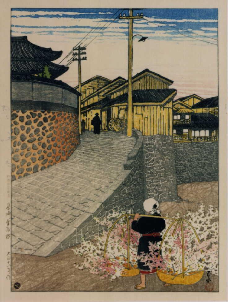 作品画像:日本風景選集 廿三 長崎金屋町