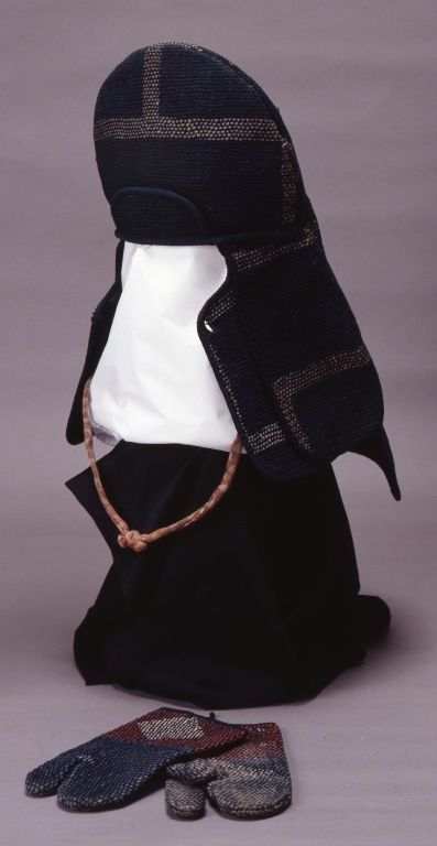 火消装束・刺子手袋(菱文)
