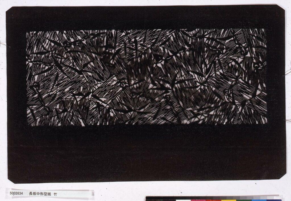 作品画像:長板中形型紙 竹