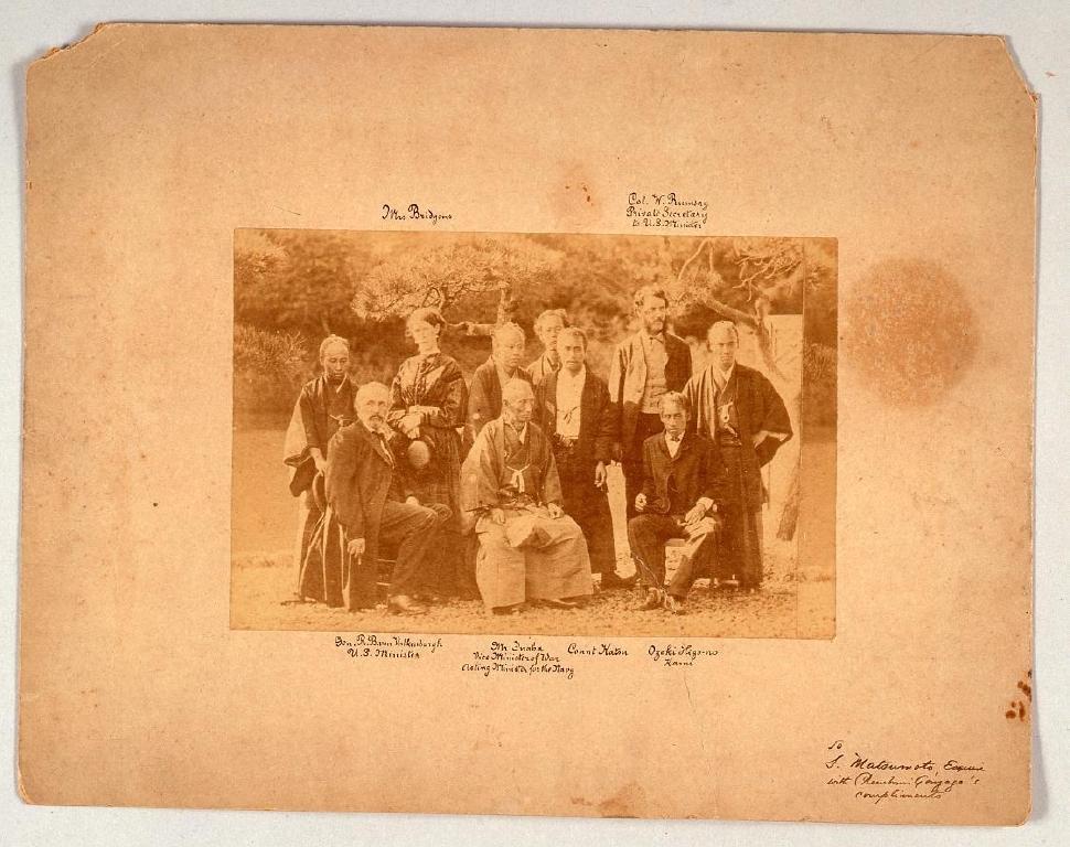 作品画像:アメリカ公使一行と幕府海軍関係者たち