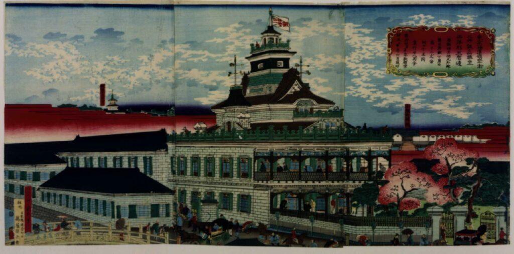 作品画像:東京海運橋兜街三井組為換坐西洋形五階造