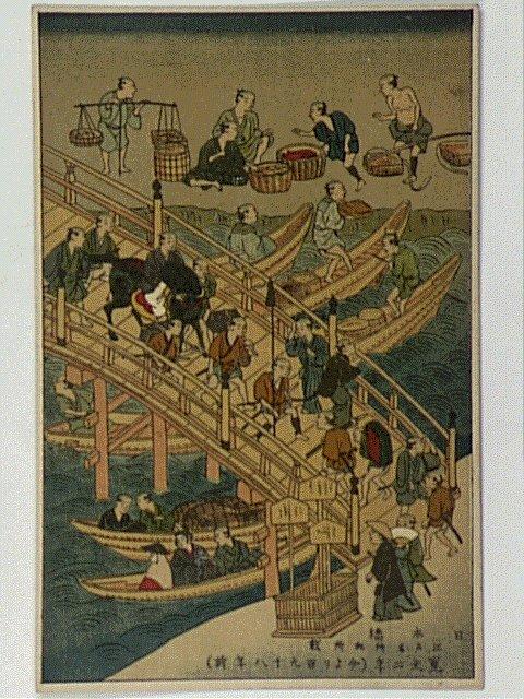 作品画像:日本橋江戸名所記所載寛文二年(今より百九十八年前)