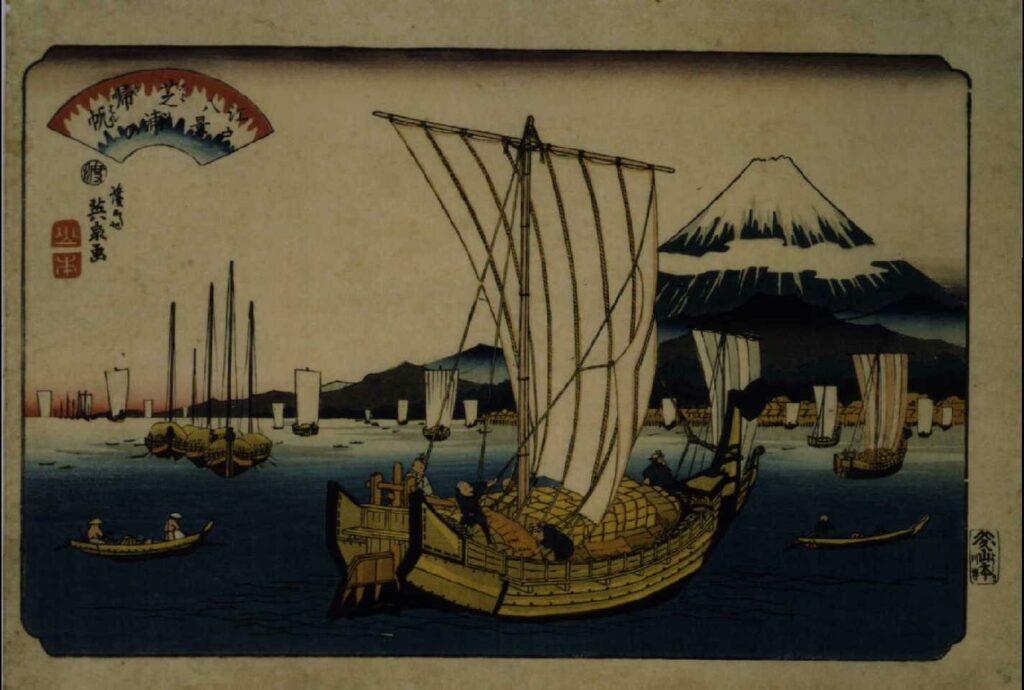 作品画像:江戸八景 芝浦の帰帆