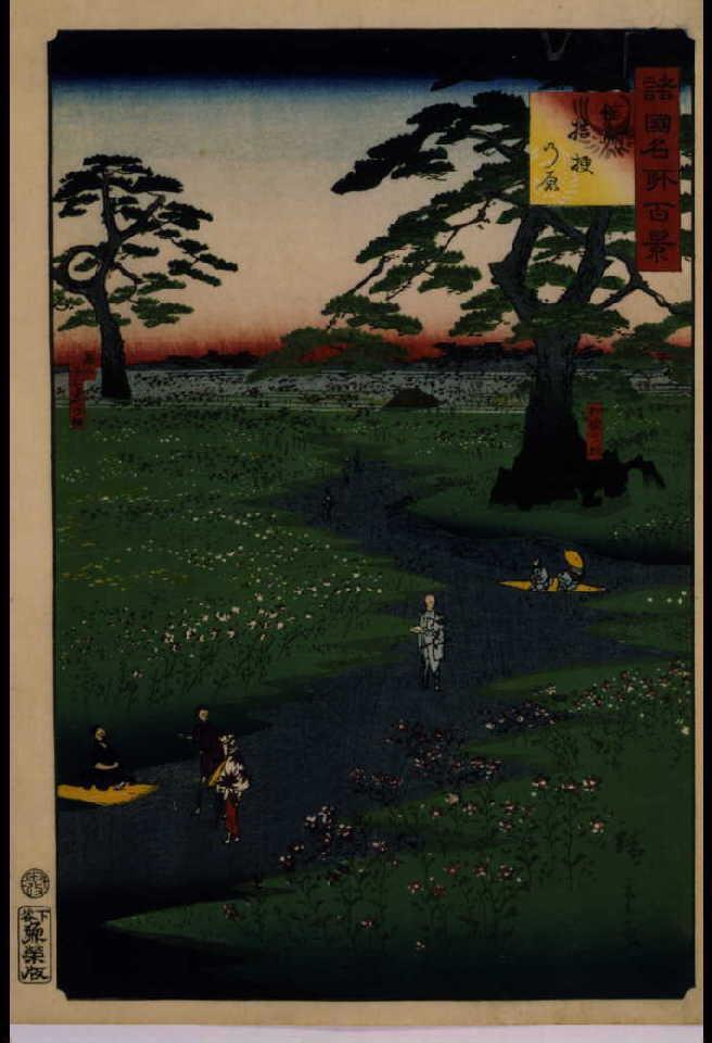 作品画像:諸国名所百景 信州桔梗の原