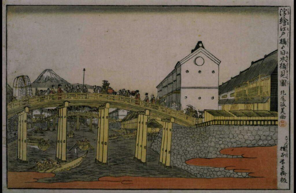 作品画像:江戸橋より日本橋見図