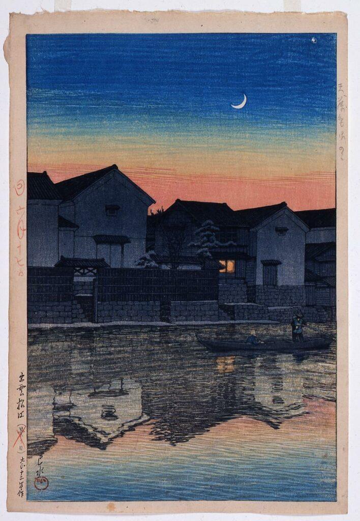 作品画像:旅みやげ第三集 出雲松江三ヶ月 原画