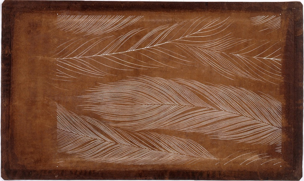 作品画像:長板中形型紙 鳥の羽(大判 追掛)