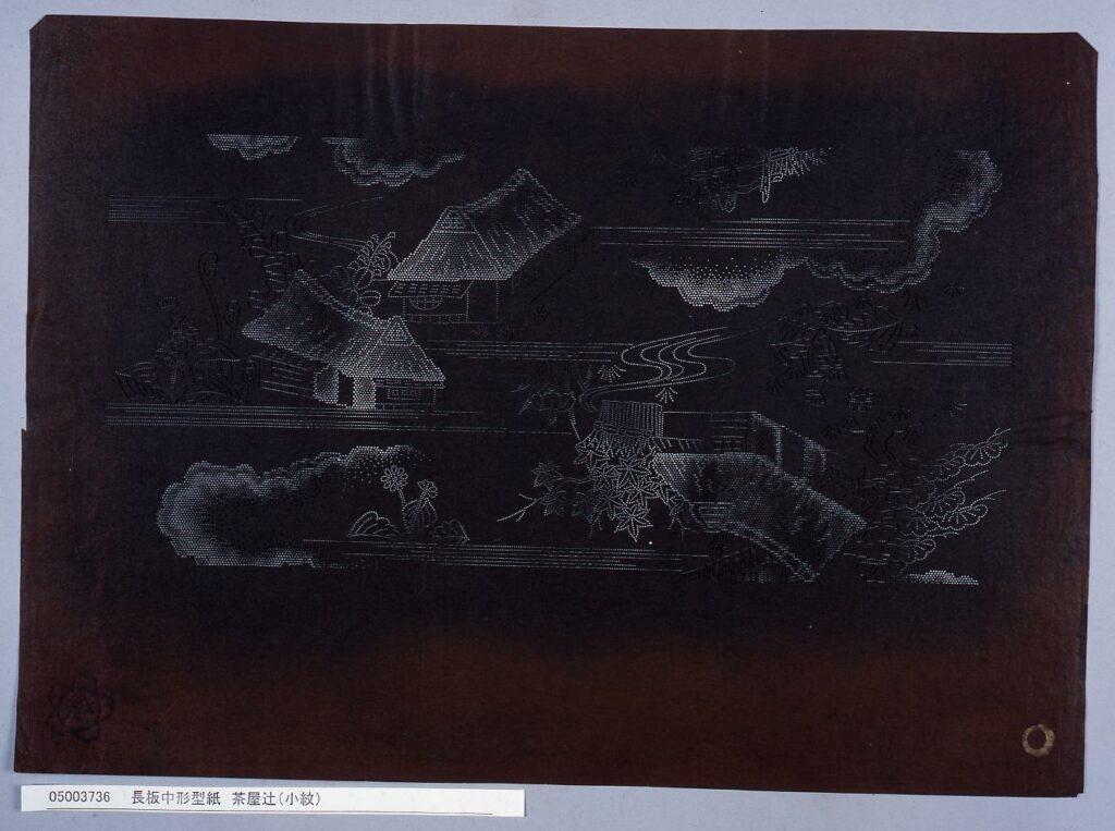 作品画像:長板中形型紙 茶屋辻(小紋)