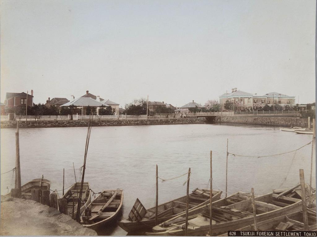 作品画像:明石橋から築地居留地を望む