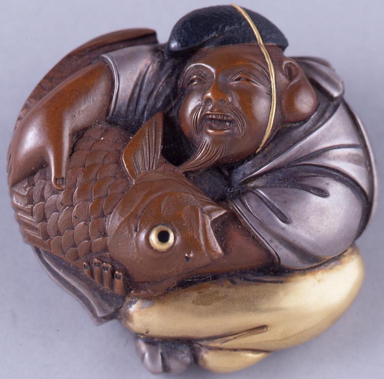 作品画像:恵比寿彫根付