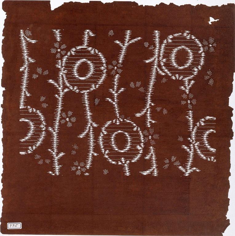 作品画像:長板中形型紙 絣模様