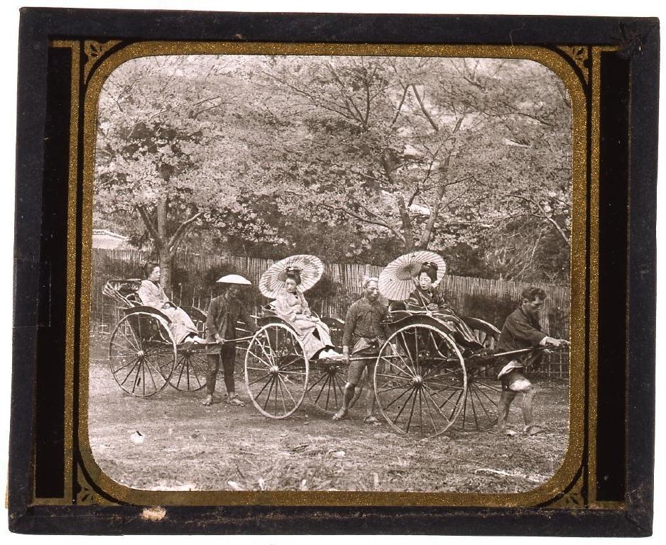 作品画像:人力車上の花見