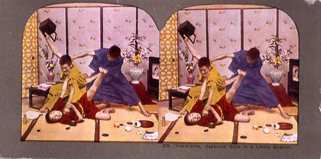 作品画像:Yokohama.Japanese Boys inA Lively Quarrel.679