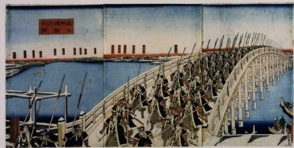 作品画像:義士両国橋退去図