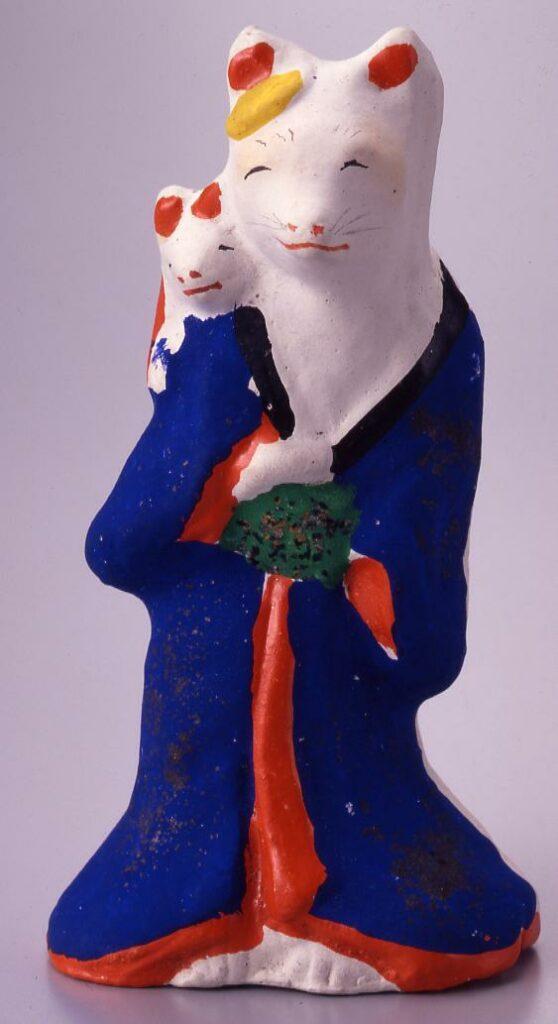 作品画像:今戸人形 子持狐