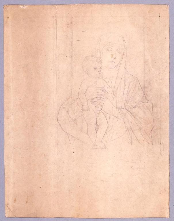作品画像:素描  聖母子